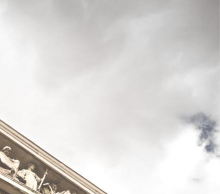 Lincoln Memorial sky close up