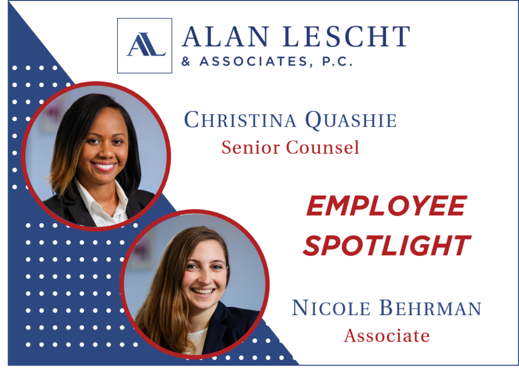 Headshots of Senior Counsel Christina Quashie and Associate Nicole Behrman